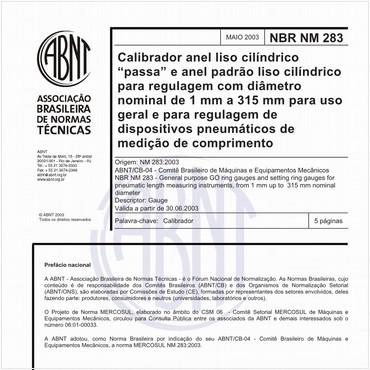 NBRNM283 de 05/2003