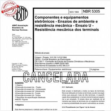 NBR5305 de 11/1984