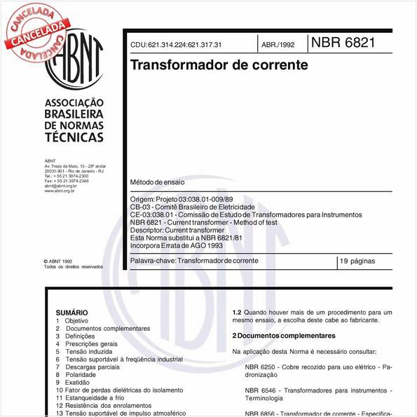 Transformador de corrente