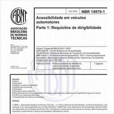 NBR14970-1 de 07/2003