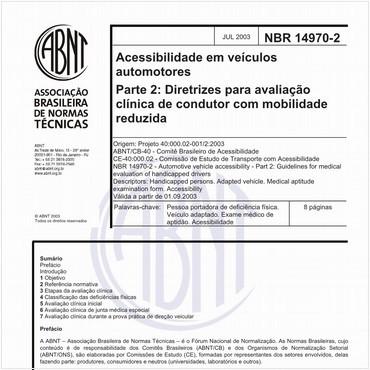 NBR14970-2 de 07/2003