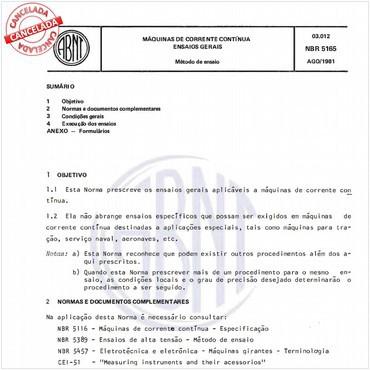 NBR5165 de 08/1981