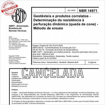 NBR14971 de 07/2003