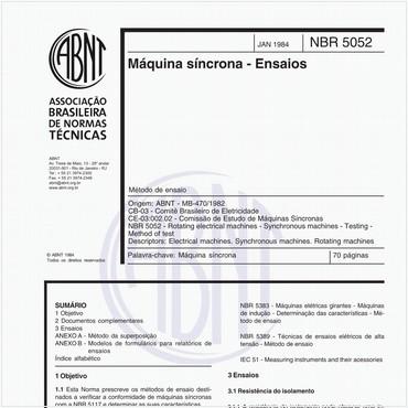 NBR5052 de 01/1984