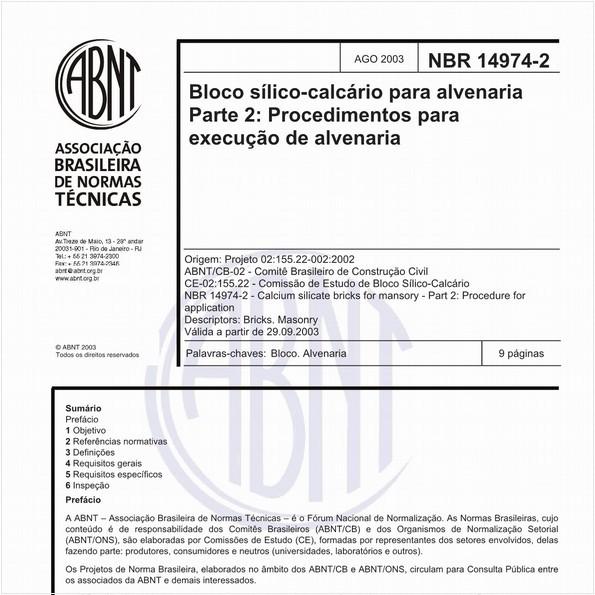 NBR14974-2 de 08/2003