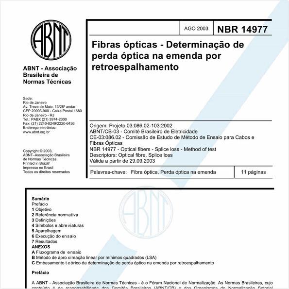 NBR14977 de 08/2003