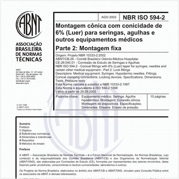NBRISO594-2 de 08/2003