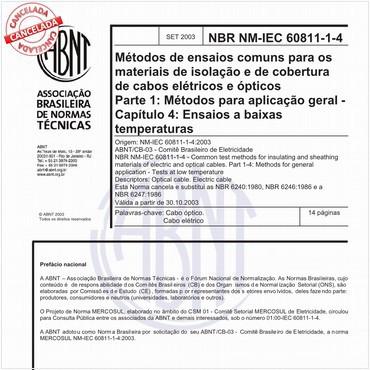 NBRNM-IEC60811-1-4 de 09/2003