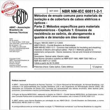 NBRNM-IEC60811-2-1 de 09/2003