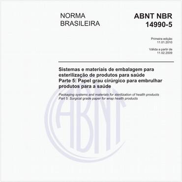 NBR14990-5 de 01/2010