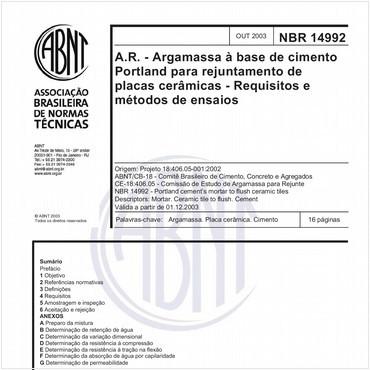 NBR14992 de 10/2003