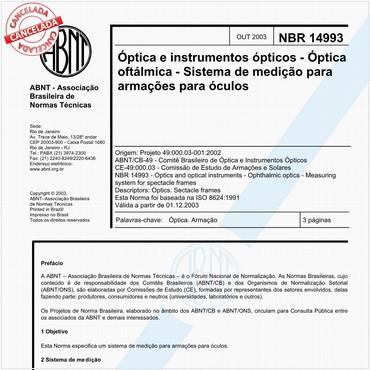 NBR14993 de 10/2003