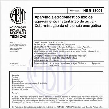 NBR15001 de 11/2003