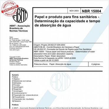 NBR15004 de 11/2003