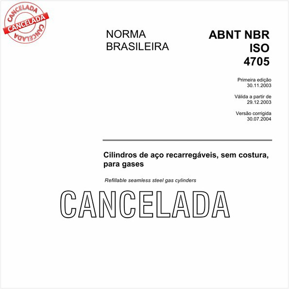 NBRISO4705 de 08/2005