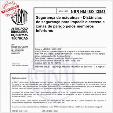 NBRNM-ISO13853 de 11/2003