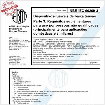 NBRIEC60269-3 de 11/2003