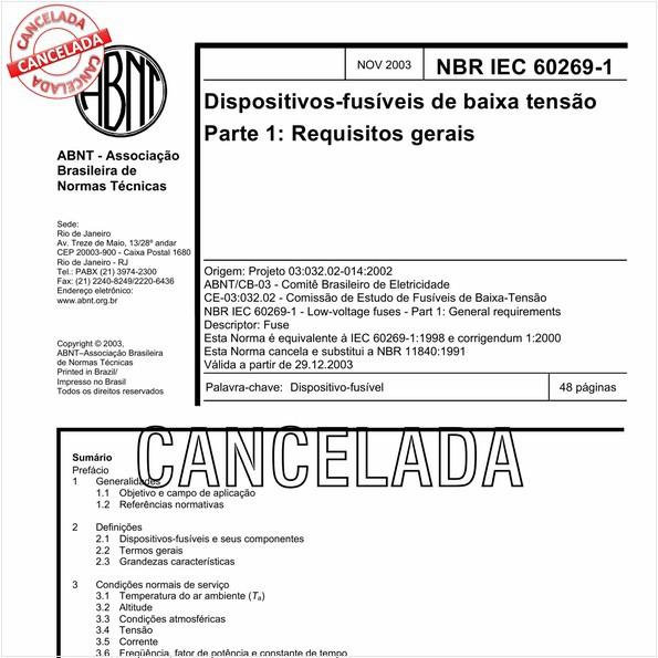 NBRIEC60269-1 de 05/2012