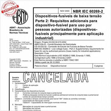 NBRIEC60269-2 de 11/2003