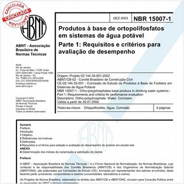 NBR15007-1 de 12/2003
