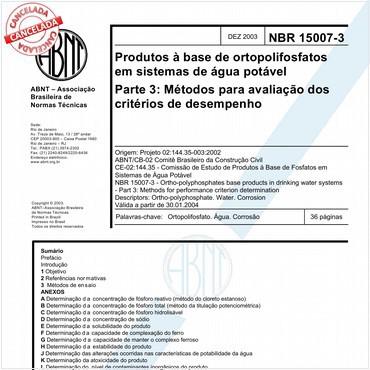 NBR15007-3 de 12/2003