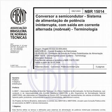 NBR15014 de 12/2003