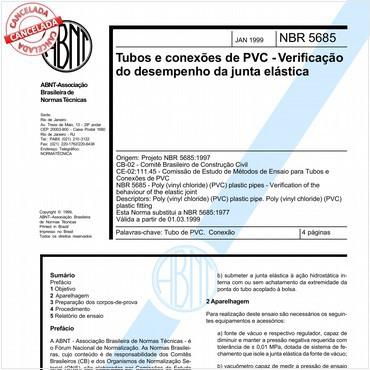 NBR5685 de 01/1999