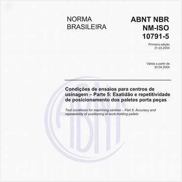 NBRNM-ISO10791-5 de 03/2004