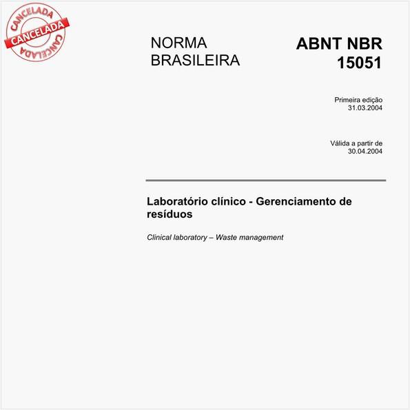 Laboratórios clínico - Gerenciamento de resíduos