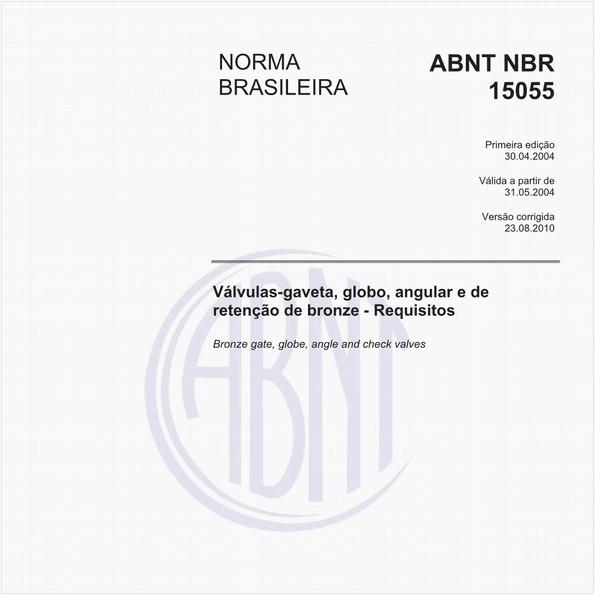 Válvulas-gaveta, globo, angular e de retenção de bronze - Requisitos
