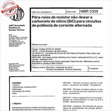 NBR5309 de 08/1991