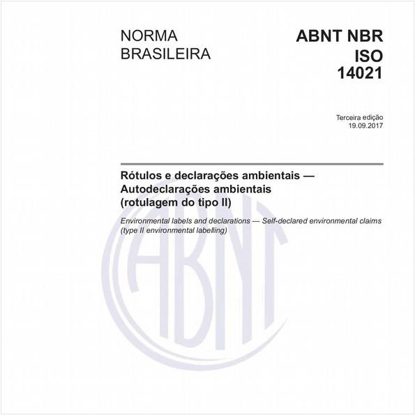 Rótulos e declarações ambientais — Autodeclarações ambientais (rotulagem do tipo II)
