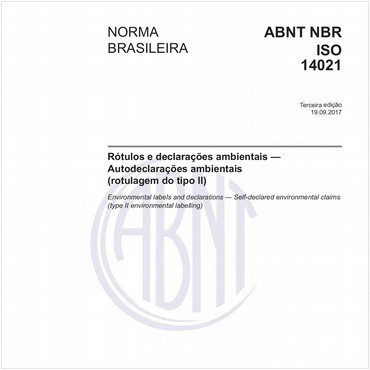 NBRISO14021 de 09/2017