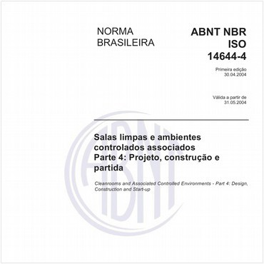 NBRISO14644-4 de 04/2004