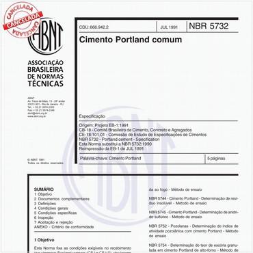 NBR5732 de 07/1991