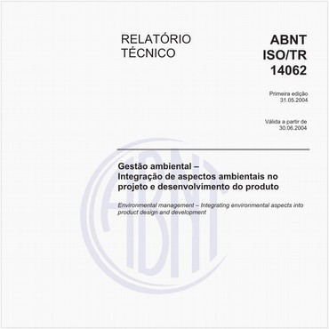 ABNT ISO/TR14062 de 05/2004