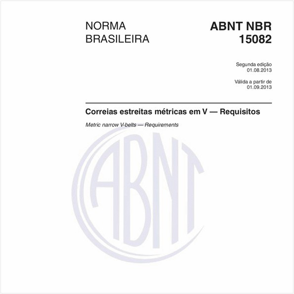 NBR15082 de 08/2013