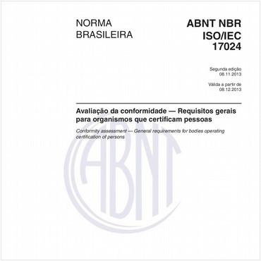NBRISO/IEC17024 de 11/2013