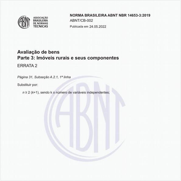NBR14653-3 de 06/2019