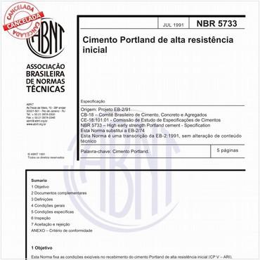 NBR5733 de 07/1991