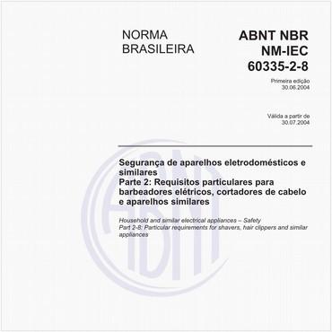 NBRNM-IEC60335-2-8 de 06/2004