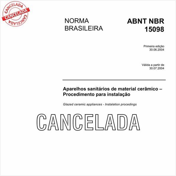 NBR15098 de 01/2011