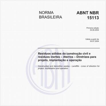 NBR15113 de 06/2004