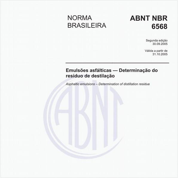 Emulsões asfálticas - Determinação do resíduo de destilação