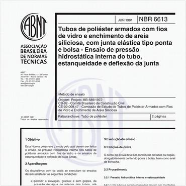 NBR6613 de 06/1981