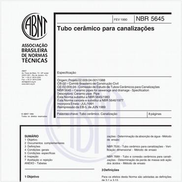 NBR5645 de 02/1990