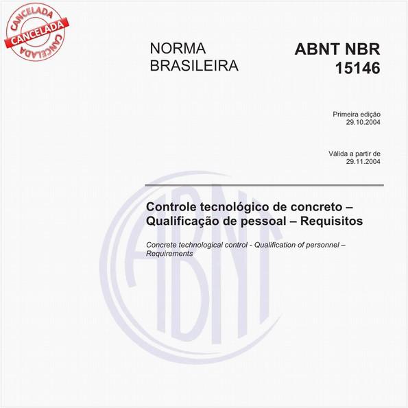 Controle tecnológico de concreto - Qualificação de pessoal - Requisitos
