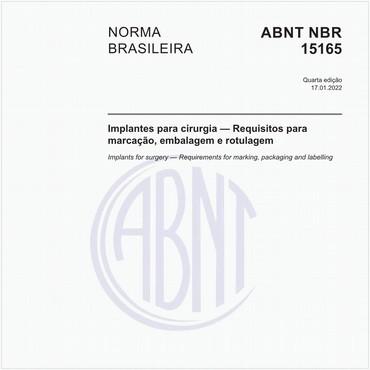 NBR15165 de 12/2017