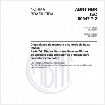 NBRIEC60947-7-2 de 02/2014