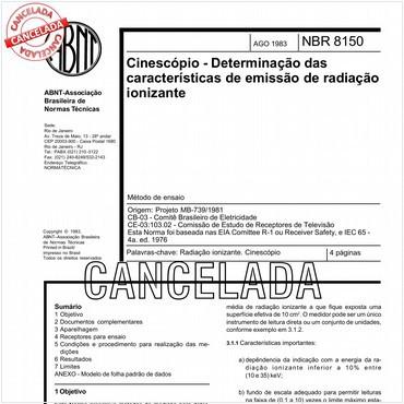NBR8150 de 08/1983